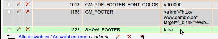 Footer in Gambio GX2 einschalten