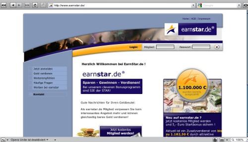 earnstar.de - mit eMail lesen Geld verdienen