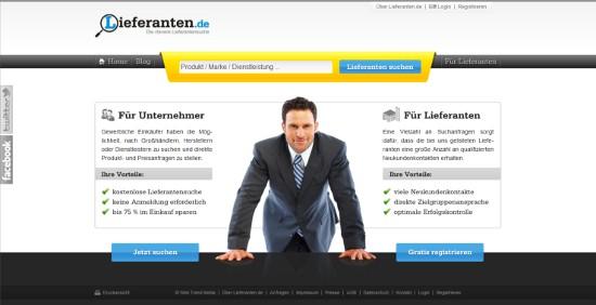 Lieferanten.de - Neue Suchmaschine macht es Händler leichter