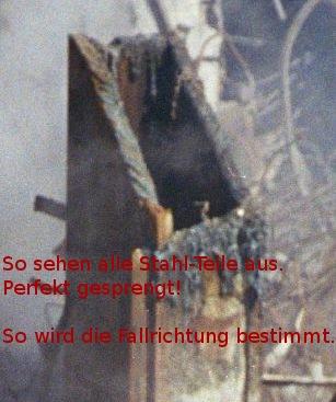 WTC - Stahl wurde abgetrennt