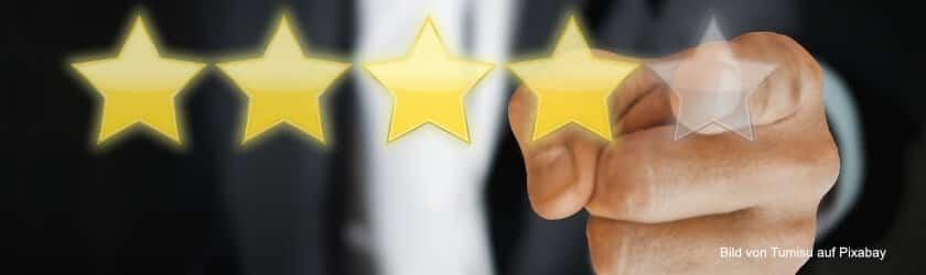 Bewertungen im Online-Shop