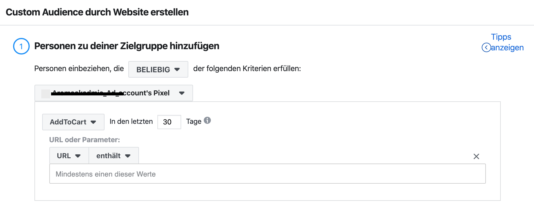 Custom Audience im Facebook Ad Manager
