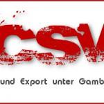 Gambio CSV- Import und Export