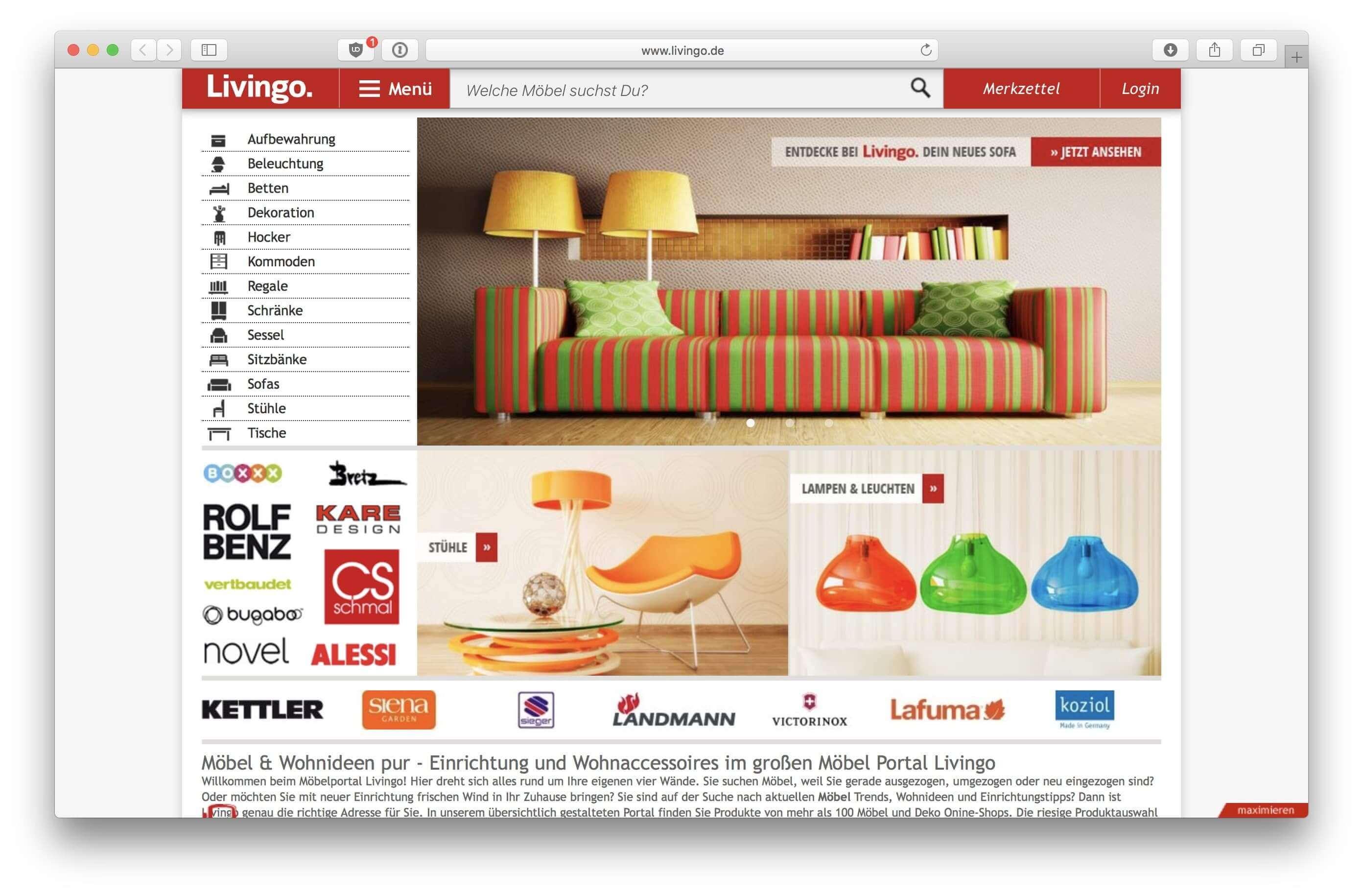 livingo.de Screenshot