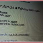 Muster Widerrufsbelehrung Verkauf von Sachen – 14 Tage Widerruf – Gültig ab 04.11.2011