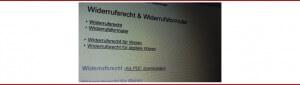 Neues Widerrufsrecht 2011